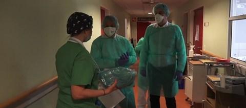 Orbán Viktor a Szent Imre kórházban