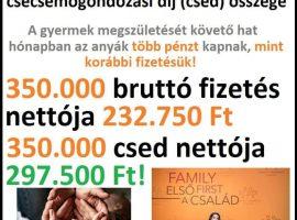 Jelentősen emelkedik a csecsemőgondozási díj összege