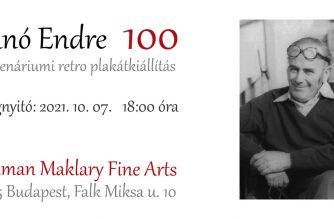 Programajánló – a 100 esztendeje született Bánó Endre grafikusművész retróplakátkiállítása